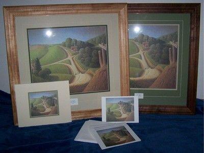 "Grant Wood Print ""New Road"""