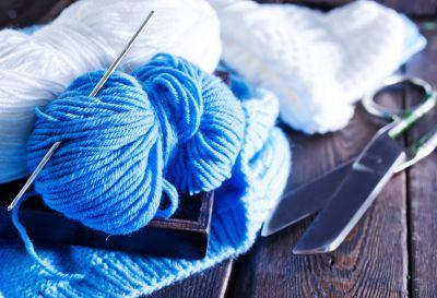 Yarn and needles.